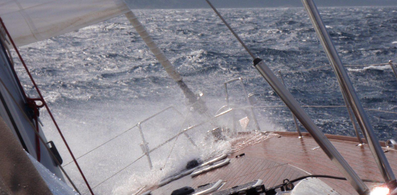 Boot in der Welle